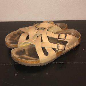 Birkenstock Cross Strap Leather Sandals